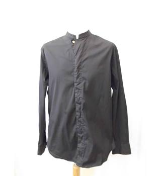 Armani - Size: M - Black - Collarless shirt