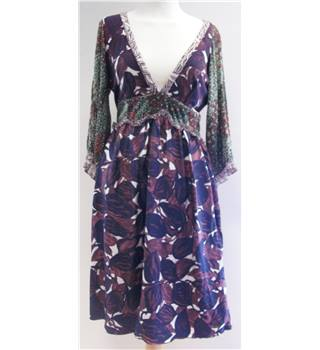 Miss Sixty Size: Small Purple and Green Patterned Dress
