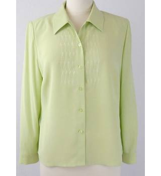 1980 s Eastex  size 12  pistachio green blouse - long sleeves