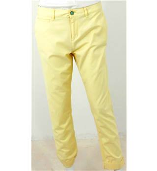 Joules Original Size 12 Powder Yellow Cropped Trousers