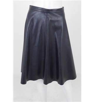 Whistles Size: 8 Black Faux Leather A-Line Skirt
