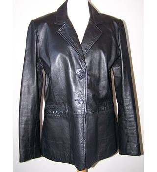 Amaranto - Size: 14 - Black - Leather jacket