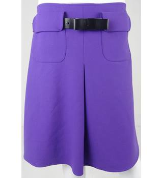 PER UNA Purple Knee-Length Skirt Size 12