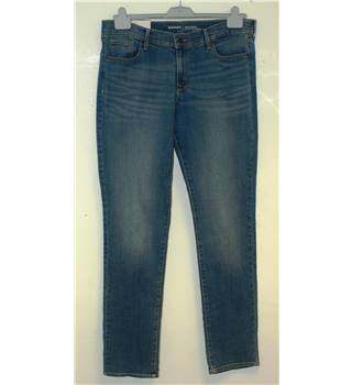 BNWT Old Navy Original : Size 12 Long Blue Mid-Rise Denim Jeans