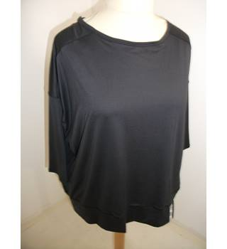 Marks & Spencer Fitness Collection Charcoal Grey Cross over Back Top Size 22