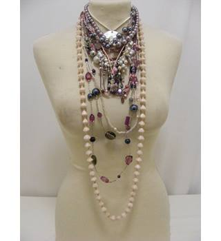 Selection of Necklaces in Lilac, Pink, Cream and Grey - 14 Items