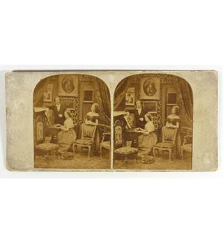 Stereoscopic view  A Victorian Parlour