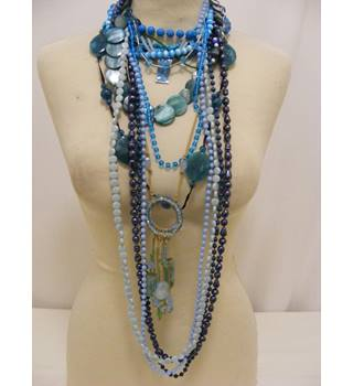 Selection of Necklaces in Shades of Blue - 14 Items