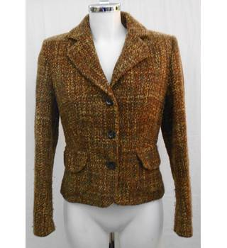 Per Una brown tweed jacket Size 10