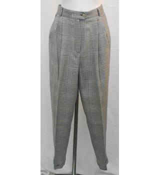 Planet grey check trousers Size 12