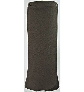BNWT: Next - Size: 12 - Dark Brown Check - Wrap Skirt