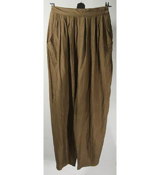 Boules - Silk trousers -  Brown - Size 10