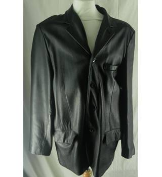 Kenneth Cole - Size: XL - Black - Leather jacket