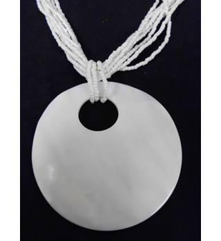 LDADPR pendant necklace. LDADPR - Size: Large - White - Pendant