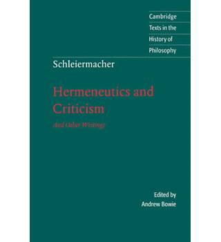 Hermeneutics and criticism