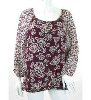 Per Una - Size: 10 - Purple - Long Sleeved Top