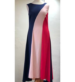 M&S Multi-coloured Size 8 Asymmetrical Sleeveless Dress
