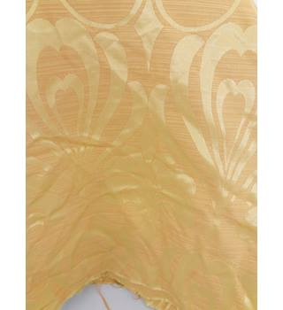 Lovely Yellow Floral Woven Design Fabric