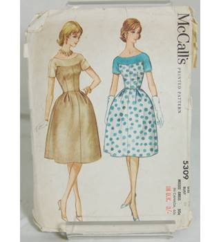Vintage McCalls Size 14 Dress Pattern 5309