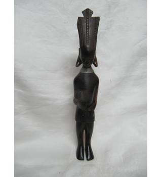 African Wooden Figure Two Woods