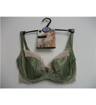 Marks & Spencer Rosie for Autograph Luxurious Silk with French Designed Rose Lace Non Padded Balcony Bra Size 30DD
