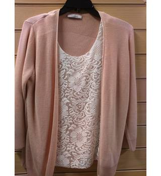 Apricot M&S Cardigan with attached Vest M&S Marks & Spencer - Size: 12 - Pink - Cardigan