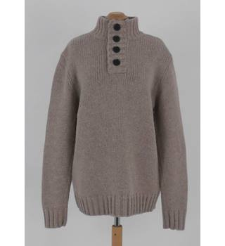 St George By Duffer Size M Beige Blended Lambswool Jumper