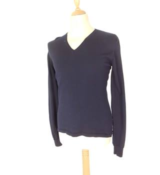 Calvin Klein Size M Dark Navy Blue 100% Wool Jumper