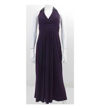 Debut at Debenhams Size 8 Purple Halter Neck Evening Dress