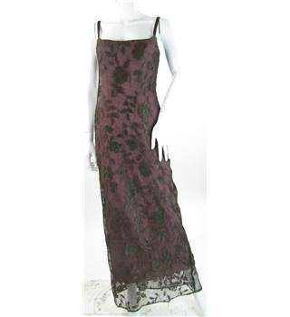 Lisa Ho Size 8 Plum and Brown Floral Lace Dress