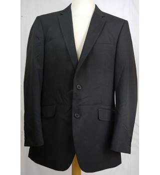 Debenhams - Size: M - Black stripe - 2 Buttons Single breasted suit