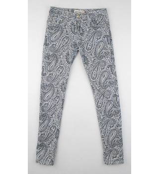 Revers 38/M  Grey Paisley Patterned Stretch Jeans