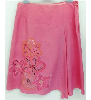 Next - Size: 10 - Pink with Floral Detail Skirt
