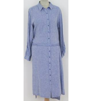 NWOT M&S Size:12 pale-blue button-through dress