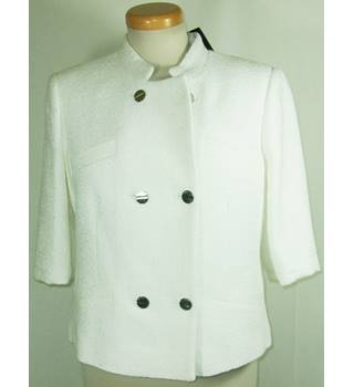 Ted Baker - Size: 3 (Small) - White - Casual Jacket
