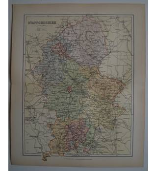 Map of Staffordshire : From Gazetteer of England and Wales (ca. 1895)