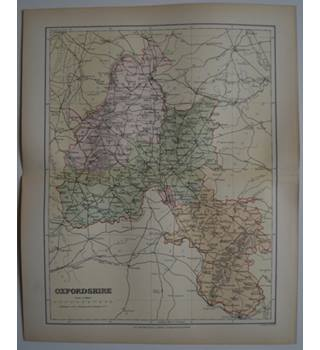 Map of Oxfordshire : From Gazetteer of England and Wales (ca. 1895)