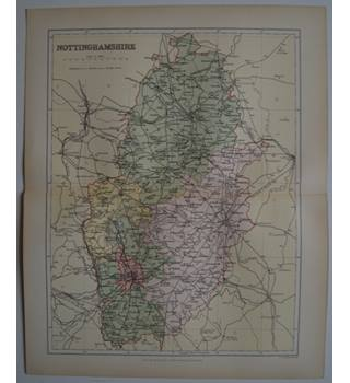 Map of Nottinghamshire : From Gazetteer of England and Wales (ca. 1895)