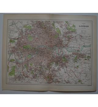 Map of County of London : From Gazetteer of England and Wales (ca. 1895)