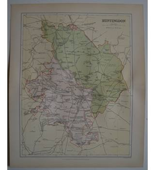 Map of Huntingdon : From Gazetteer of England and Wales (ca. 1895)