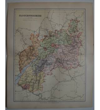 Map of Gloucestershire  : From Gazetteer of England and Wales (ca. 1895)