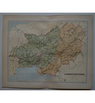 Map of Carmarthenshire : From Gazetteer of England and Wales (ca. 1895)