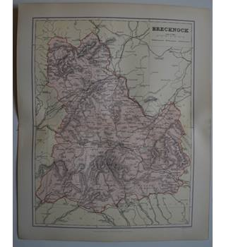 Map of Brecknock   : From Gazetteer of England and Wales (ca. 1895)
