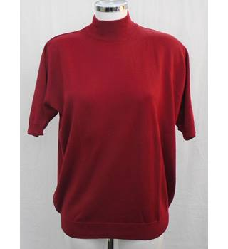 Micha red wool-mix jumper Size 20