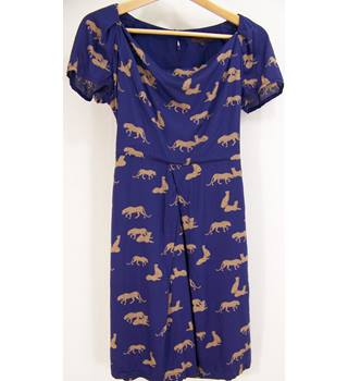 Great Plains - Size: XS Blue Patterned Dress