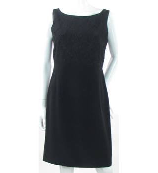 Laura Ashley - Size: 12 - Black - Knee length dress