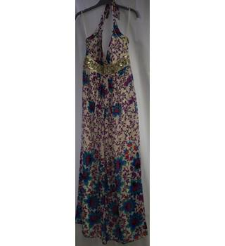 Monsoon Collection new full length silk dress Monsoon - Size: 10 - Multi-coloured - Long dress