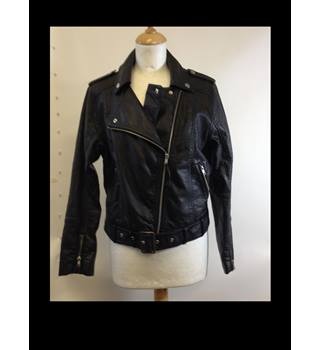 H&M size 39inch Faux Leather Jacket