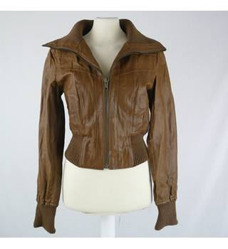 New Look - Size:  10- Brown - Leather Jacket