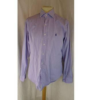 PURPLE AND WHITE RALPH LAUREN STRIPED SHIRT, SIZE 16 Ralph Lauren - Size: One size: regular - Multi-coloured - Long sleeved